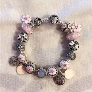 Magnolia bloom spring bracelet